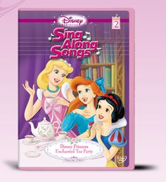Disney Princess Sing Along Songs, Vol. 2 - Enchanted Tea Party >>> Continue to the product at the image link. Disney Songs, Disney Movies, Princess Songs, Princess Party, Princess Birthday, Royal Tea Parties, Disney Enchanted, Pocket Princesses, Disney Princesses