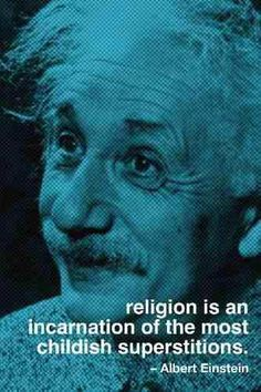 """For me the Jewish religion like all others is an incarnation of the most childish superstitions."" - Einstein #quote #atheist #atheism"