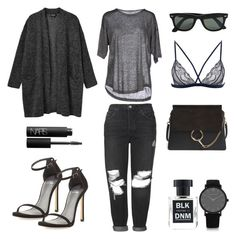 I'll stop wearing black when they invent a darker color by fashionlandscape on Polyvore featuring polyvore, fashion, style, Monki, Isabel Marant, Topshop, Stuart Weitzman, Chloé, Larsson & Jennings, NARS Cosmetics, BLK DNM and Ray-Ban