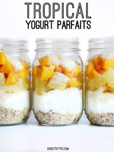 Tropical Yogurt Parfaits - BudgetBytes.com