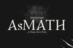 Meet Asmath – Free Sharp Serif Fonts designed by D&K_project. The font comes with Regular Uppercase and Lowercase text-heavy settings. And with strong style, it's suitable for various projects such as magazine, poster, logo and many more. Add to your fonts collection if you love it!