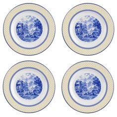 Spode - 'Giallo' Collection, Earthenware - Salad Plates, s/4