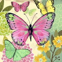 Butterfly Flight Turquoise by Jennifer Brinley | Ruth Levison ...