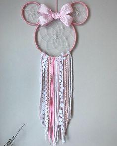 - Home Decoration - Minnie Mouse dreamcatcher Minnie Mouse Minnie Mouse bow Minnie Mouse ears Mickey Mouse dreamcatcher - Disney Diy, Disney Crafts, Minnie Mouse Bow, Pink Minnie, Mouse Ears, Minnie Mouse Nursery, Decoration Minnie, Birthday Decorations, Diy Disney Decorations