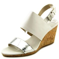 2089bf2a8dcc Calvin Klein Bibbi Women Open Toe Leather Wedge Sandal    Discover this  special product
