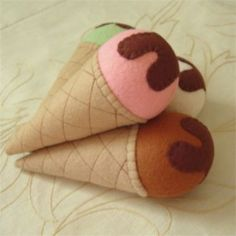Felt ice cream cones