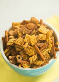 Homemade Chex Mix | browneyedbaker.com #recipe Try adding 2 tbs. beau monde seasoning to this