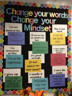 Growth mindset bulletin board - Excellent DIY Classroom Decoration Ideas & Themes to Inspire You Classroom Bulletin Boards, Classroom Door, Science Classroom, Classroom Organization, Science Room, Bulletin Board Ideas Middle School, Bulletin Board Ideas For Teachers, English Bulletin Boards, Classroom Display Boards