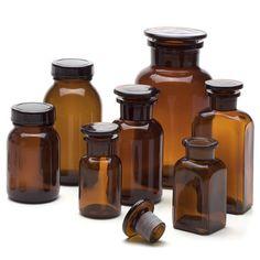 Manufactum, Vorratsflasche mit Glasstopfen Braun