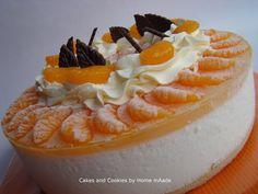 Sinaasappel-mandarijn-yoghurttaart. Gemaakt met Dr. Oetker mix voor kwarktaart