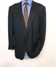 PAULO SOLARI Mens Dark Blue Suit Jacket | Athletic Fit 4 Button ...
