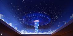 Gwiezdne niebo Mgławice oraz żyrandol Ośmiornica E-TECHNOLOGIA - zdjęcie od E-TECHNOLOGIA Leszek Łazarski - Wnętrza biurowe - Styl Nowoczesny - E-TECHNOLOGIA Leszek Łazarski