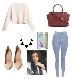 """""""kylie kenner inspired"""" by jennifermendoza10 ❤ liked on Polyvore featuring Topshop, MICHAEL Michael Kors and Maiden Lane"""
