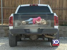 Texas Sign Company Makes Awful Decal Depicting Woman Tied Up In The Back Of A Truck