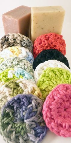 Face Scrubbies 24 Pack   Free Shipping  MTO  by SamsCrochet, $12.00