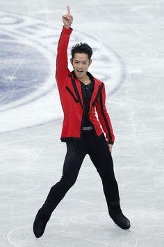 RIFU, JAPAN - NOVEMBER 23:  Daisuke Takahashi of Japan competes in the Men's Short Program during day one of the ISU Grand Prix of Figure Skating NHK Trophy at Sekisui Heim Super Arena on November 23, 2012 in Rifu, Japan.