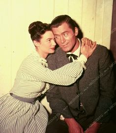"""Clint and actress Patricia Tiernan on the set of the TV show """"Cheyenne,"""" Clint Walker Actor, Cheyenne Bodie, Old West, Firearms, A Good Man, Blue Eyes, Cowboys, Movie Stars, Westerns"""