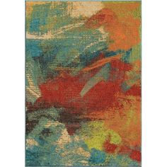 Orian Rugs Bright Color Abstract Opulence Abstract Multi Area Rug