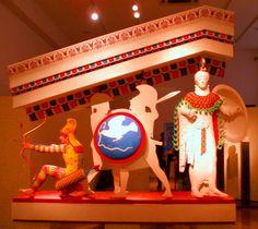 Athena Aphaia W Pediment colored Munich, Elgin Marbles, Ancient Greek Sculpture, Statues, Art Antique, Sculpture Painting, Parthenon, Ancient Rome, Color Of Life