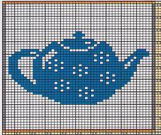 Potholder Coffee Pot 5 pattern by Regina Schoenfeldt