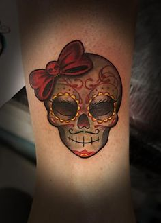 14 Best Feminine Sugar Skull Tattoo Designs Images In 2017 Tatoos