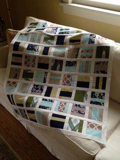 Mixtape Quilt, via Flickr. IT GIRL QUILT Joel Dewberry Modern Meadow  Love the fabric choices!