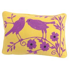 Refresh your sofa or master bed with this cotton canvas cushion cover, featuring a charming bird motif.    Product: Cushion co...