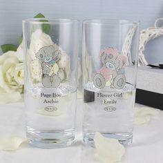 Personalised Tatty Teddy Wedding - Male Hi Ball Glass