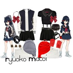 Casual cosplay of Ryuoko Matoi (from Kill la Kill anime series)-- character inspired outfit