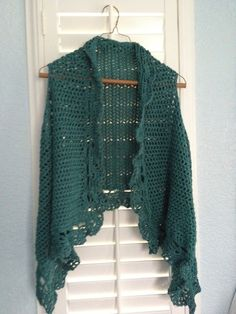 Crochet Vest--I love this one. I need to find a pattern for it.