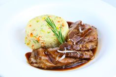 Roast Leg of Lamb with Red Wine and Rosemary Jus