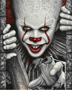 goth Horror clown. Pennywise IT tribute piggy bank