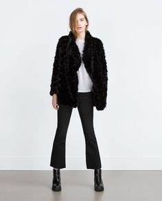 $129 FAUX FUR COAT from Zara
