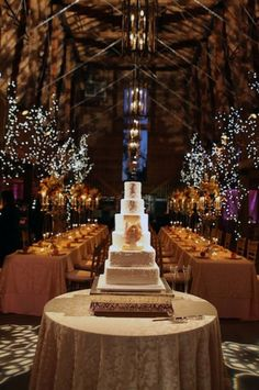 An elegant barn wedding reception??  Yes, it can be done!    Photo:  Benfield Photography
