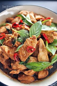 Thai Stir Fry Chicken with Basil and Chili