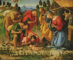 LUCA SIGNORELLI - Adorazione dei pastori - c. 1510 - Philadelphia Museum of Art