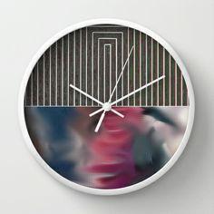 Entrance (Bacon) Wall Clock by Okti - $30.00