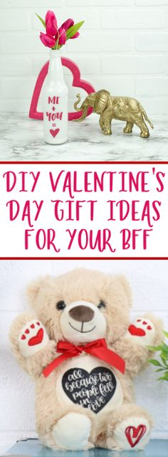 These DIY Valentines Day Gift Ideas for Your BFF are simple to  make and won't take much time, but they will show your best friends that you  are thinking of them and just how much you care.  #valentines  #valentinesday #valentinesdaycrafts #valentinesdayprojects  #valentinesdaygiftideas #valentinesdaygifts #valentinesdaydiy #diyvalentinesday  #diyvalentinescrafts #diyvalentinesdecor #diyvalentinesdaydecor