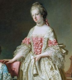 The Princess Caroline Matilda of Wales (1751-1775). She was a daughter of Frederick Louis The Prince of Wales and his wife, The Princess Augusta of Saxe-Gotha-Altenburg. She was Queen of Denmark and Norway (1766-1775) as the wife of King Christian VII. Her children were King Frederik VI and The Princess Louise Augusta.