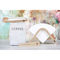 Sola coffee filter holder also works perfectly with HARIO filters. Coffee Filter Holder, Coffee Filters, Coffee Drinks, Coffee Cups, Bag Clips, Coffee Corner, Coffee Recipes, Woodworking Shop, Branding Design