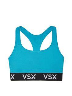 Victorias Secret Aqua Strappy Plunge Lightweight Wireless Victoria Sport Bra
