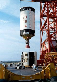 Assembly process for the Saturn V launch vehicle.