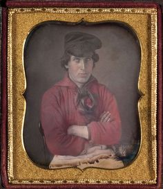 Hand-colored daguerreotype, sixth plate, ca. 1850. COURTESY OF CORNELL UNIVERSITY LIBRARY
