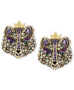 Betsey Johnson Gold-Tone Crystal Fox Stud Earrings so much more amazing in person!