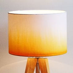 Make a Dip Dye Lampshade – London Craft Club Craft Club, Dip Dye, Table Lamp, Shades, Lighting, How To Make, White Cotton, Color, London