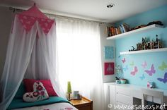 Our daughter's French inspired tween girl's bedroom / Casa Haus El cuarto parisino de nuestra hija