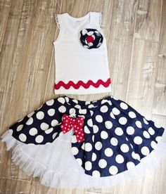 Couture Girls Nautical Petti Skirt and Lacy Rosette Tank12 Months to 14 YearsPersonalize It!