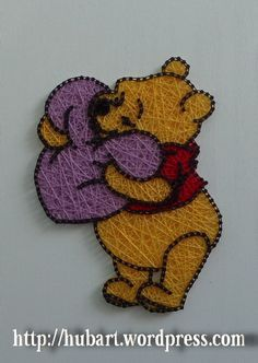 string art winnie the pooh string art winnie the pooh <!-- Begin Yuzo --><!-- without result -->Related Post Wedding Hairstyles 2019 Ideas ❤︎ Wedding planning . Here's how to travel solo as explained by a so. Disney String Art, Nail String Art, String Crafts, Resin Crafts, Paper Embroidery, Japanese Embroidery, Flower Embroidery, Embroidered Flowers, Embroidery Stitches