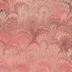 Rose in Bloom - Set of 2 sheets of hand marbled paper via Etsy