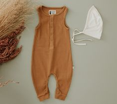 Gorgeous Honey Rib Romper Eco Store, Long Romper, Look After Yourself, Organic Baby Clothes, Long Legs, Horns, Halo, Organic Cotton, All In One